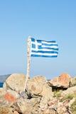 flag greken Fotografering för Bildbyråer