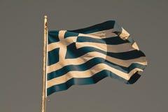 flag greken Royaltyfria Foton