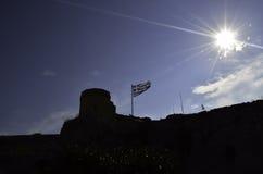 flag greken Royaltyfri Fotografi
