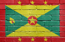 Flag of Grenada on brick wall Stock Photography
