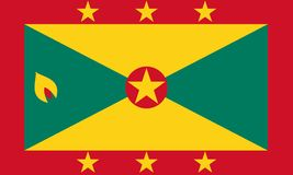 Flag of Grenada in national colors, . Flag of Grenada in national colors Royalty Free Stock Photography