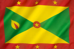 Flag of Grenada. The national flag of Grenada was adopted on independence from the United Kingdom on the 7th February 1974 Stock Photography