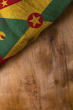 Flag of Grenada from rough burlap Royalty Free Stock Photography