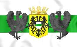 Flag of Groningen City, Netherlands. Royalty Free Stock Photography