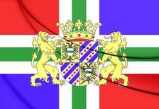 Flag of Groningen Province, Netherlands. Stock Photography