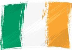 flag grunge ireland vektor illustrationer