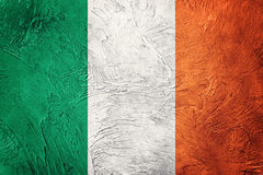 flag grunge ireland Irländsk flagga med grungetextur Royaltyfri Bild