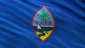 Flag of Guam seamless loop Stock Photos