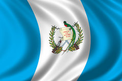 Flag of Guatemala. Waving in the wind Stock Image