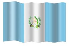 Flag of Guatemala Royalty Free Stock Photography
