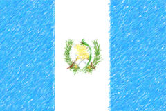 Flag of Guatemala background o texture, color pencil effect. Royalty Free Stock Image