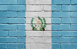 Flag of Guatemala on brick wall Royalty Free Stock Images