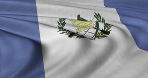 Flag of Guatemala. Fluttering in light wind Royalty Free Stock Photography