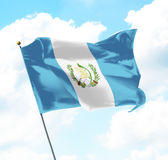 Flag of Guatemala. Raised Up in The Sky Royalty Free Stock Photos