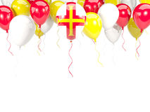 Flag of guernsey on balloons Royalty Free Stock Photography
