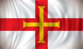 Flag of Guernsey. Vector illustration Royalty Free Stock Images