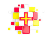 Flag of guernsey, mosaic background Stock Photos