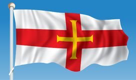 Flag of Guernsey. Vector illustration Stock Image