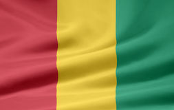 Flag of Guinea. Very large version of a guinean flag Stock Photography