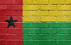 Flag of Guinea-Bissau on brick wall Stock Photo