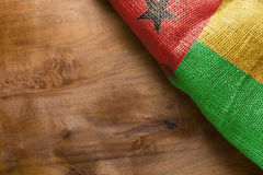 Flag of Guinea Bissau stock photo