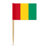 Flag of Guinea. Flag toothpick on white background Royalty Free Stock Image