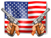 Flag and Guns Stock Images