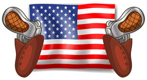 Flag and guns Stock Image