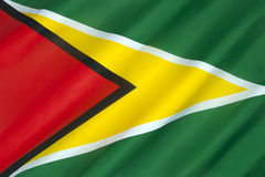 Flag of Guyana - South America. The flag of Guyana, known as The Golden Arrow, has been the national flag of Guyana since May 1966 when the country became Royalty Free Stock Image