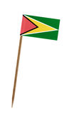 Flag of Guyana. Tooth pick wit a small paper flag of Guyana Royalty Free Stock Photos
