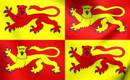 Flag of Gwynedd, Wales. Stock Photography