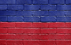 Flag of Haiti on brick wall Royalty Free Stock Photo