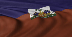Flag of Haiti. Fluttering in light wind Royalty Free Stock Photography