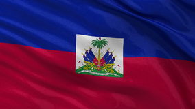 Flag of Haiti - seamless loop Stock Images