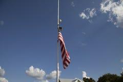 Flag at Half Mast Royalty Free Stock Image