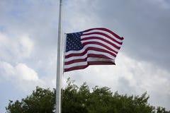 Flag at Half Mast Stock Images