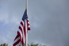 Flag at Half Mast Royalty Free Stock Photo