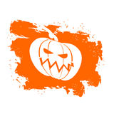 Flag Halloween grunge style on white background. Brush strokes a Royalty Free Stock Photos