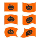 Flag Halloween. Sign set for terrible holiday. Traditional festi Stock Image