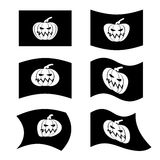 Flag Halloween. Sign set for terrible holiday. Traditional festi Royalty Free Stock Photo