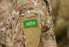 Flag of Hamas on soldier arm. Flag of Hamas on military uniform royalty free stock image