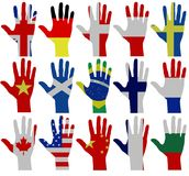 Flag hands Royalty Free Stock Images