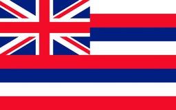 Flag of Hawaii, USA. Flag of Hawaii, Honolulu - United States stock photos