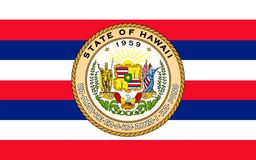Flag of Hawaii, USA stock photo