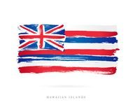 Flag of Hawaii. Abstract concept vector illustration