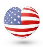 Flag heart Royalty Free Stock Photo