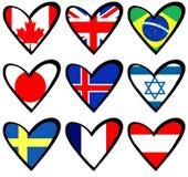 Flag hearts 2 Royalty Free Stock Photography