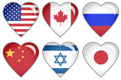 Flag Hearts Stock Image