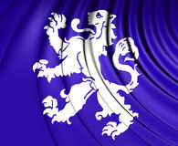 Flag of Heemskerk North Holland, Netherlands. Royalty Free Stock Photography