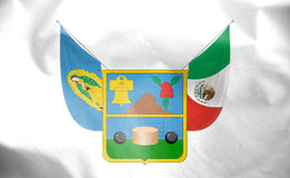 Flag of Hidalgo, Mexico. Stock Images